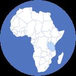Wereld Deel Afrika met Tanzania